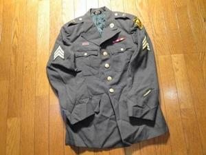 U.S.ARMY Jacket100%Wool Uniform 1968年 size36S used