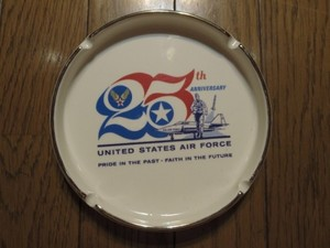 "U.S.AIR FORCE Ashtray ""25thAnniversary""1972年 used"