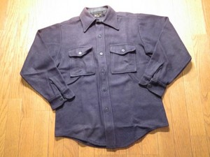 U.S.NAVY Shirt Wool? CPO? size15 1/2 used