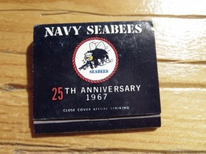 "U.S.NAVY Matchbook ""SEABEES"" 1967年 new"