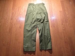 U.S.Field Trousers 100%Wool Serge 1950年代 sizeS