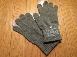 U.S.Gloves Insert ColdWeather Wool/Nylon size4 new