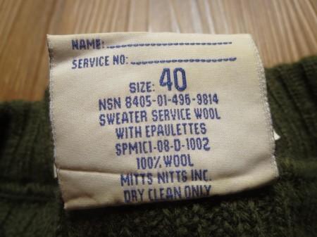 U.S.Sweater 100%Wool 2008年 size40 used