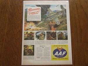 """U.S.Life誌 AD""""U.S.AIR FORCE""""1940年代(切り抜き実物です)"""