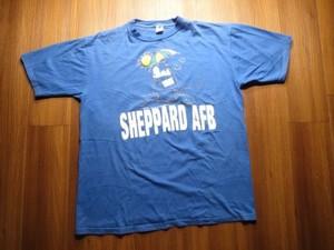 "U.S.AIR FORCE T-Shirt ""SHEPPARD AFB×SNOOPY"" sizeXL"