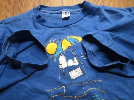 "U.S.AIR FORCE T-Shirt ""SHEPPARD AFB×SNOOPY"" sizeXL"