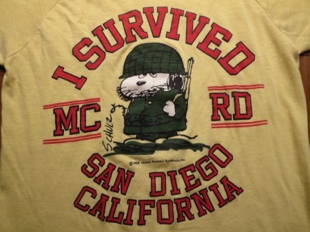 "U.S.MARINE CORPS ""MCRD×SNOOPY?"" T-Shirt sizeS used"