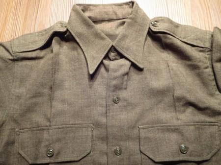 U.S.Field Shirt 100%Wool 1951年 size15 used