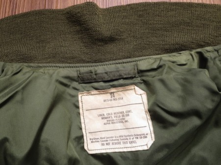 U.S.Liner for Field Jacket Woman 1975年 size14 used