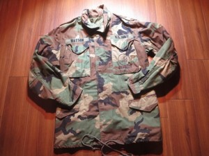 "U.S.NAVY M-65 Field Jacket ""SEABEES"" 1991年 sizeS-R"