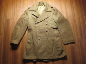 U.S.ARMY Overcoat Wool Melton 1945年 size36L used