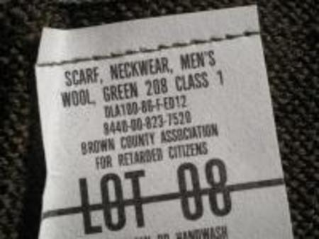 U.S.Scarf Neckwear Wool 1980年代 new
