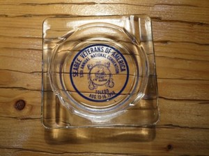 "U.S.NAVY AshTray ""SEABEES"" 1959年 used"