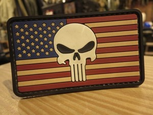 "U.S.Patch ""The StarsandStripes & Punisher Skull?"""