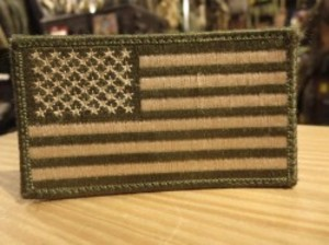 """U.S.Patch """"The Stars and Stripes"""" olive"""