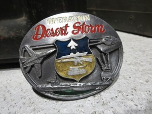 "U.S. Buckle ""OPERATION DESERT STORM"" used?"