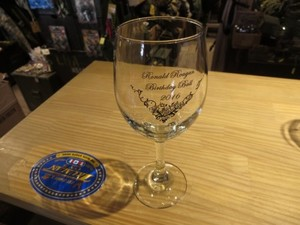 "U.S.NAVY WineGlass ""USS RONALD REAGAN CVN-76"" used"