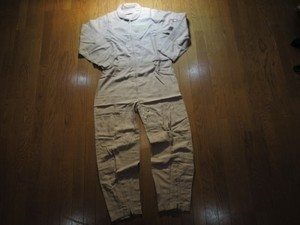 U.S.NAVY Coveralls 100%NOMEX TAN 1991年 size44 used