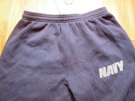 U.S.NAVY Sweat Trousers Physical Training sizeM