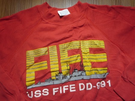 "U.S.NAVY ""USS FIFE DD-991""Sweat sizeM used"