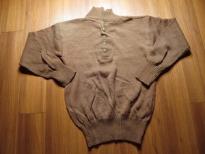 U.S.ARMY Sweater 100%Wool OD 1986年 sizeXL used