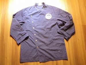 "U.S.NAVY Umiform CookShirt? ""USS BLUE RIDGE"" sizeS"