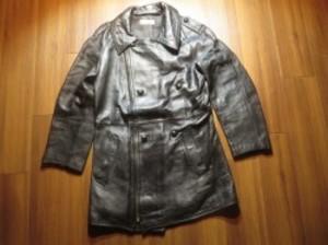 FRANCE Motorcycle Coat Leather 1980年代 sizeM? used
