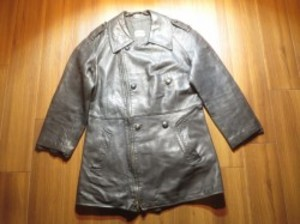 FRANCE Motorcycle Coat Leather 1980年代 sizeL? used