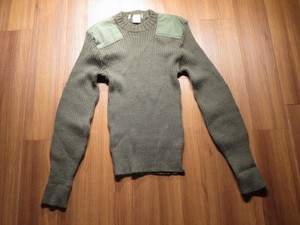 U.S.MARINE CORPS Sweater 100%Wool 1985年 size40used