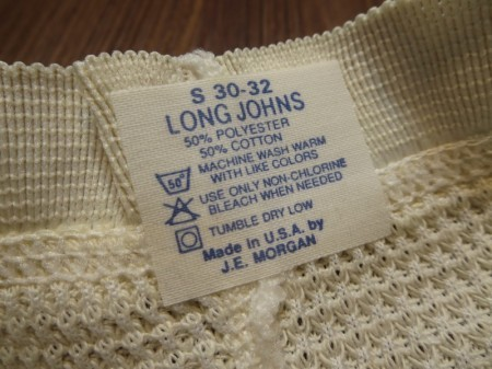 U.S. J.E.MORGAN LONG JOHNS 1991年 sizeS
