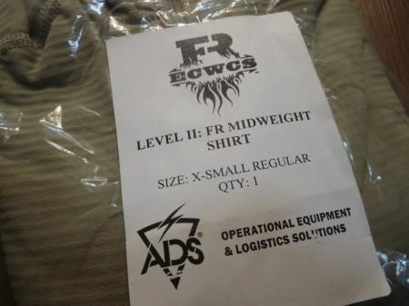 U.S.GENⅣ LEVELⅡ FR MID WEIGHT Shirt sizeXS new