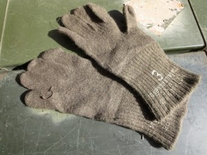 U.S.Cold Weather Gloves Wool/Nylon 1950年代? size3