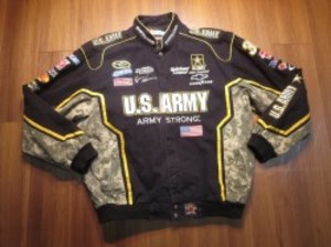 "U.S.ARMY NASCAR Jacket ""Ryan Newman"" sizeL used"