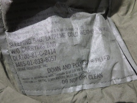 U.S.Sleeping Bag Extreme Cold 1981年 used?