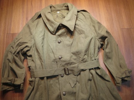 France Motorcycle Coat 1940年代? sizeM? used