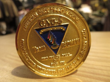 """U.S.NAVY Challenge Coin """"CVW-5 CAG"""" 2002-3年頃?"""