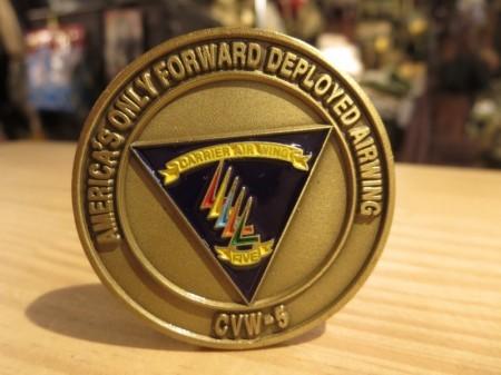 """U.S.NAVY Challenge Coin """"CVW-5 CAG"""" 2010-12年頃?"""