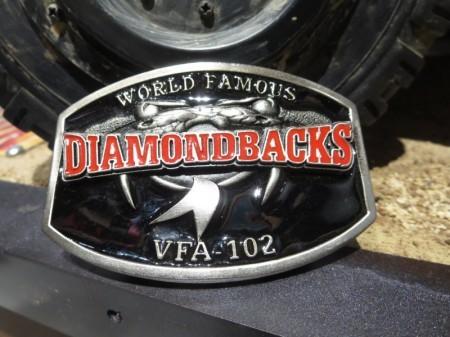 "U.S.NAVY Buckle ""VFA-102 DIAMONDBACKS"" new"