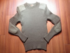 U.S.MARINE CORPS Sweater 100%Wool 1988年 size34