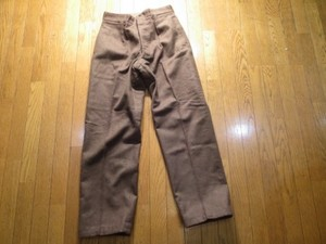 France Field Trousers Wool 1950年代 sizeM? used