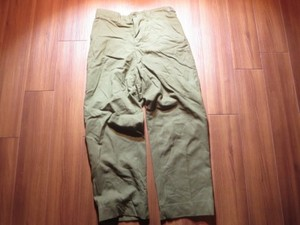 U.S.Field Trousers 100%Wool 1953年 sizeM-Regular