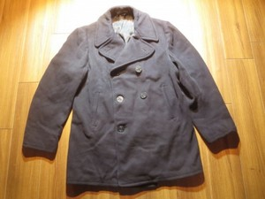 U.S.NAVY Pea Coat 100%Wool 1950年代? size42 used