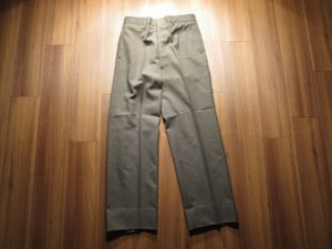 U.S.Trousers 100%Wool SergeGreen 2234 1979年 size32