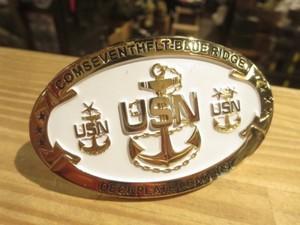 "U.S.NAVY Buckle ""USS BLUE RIDGE LCC-19"" used"