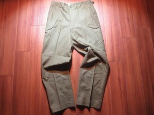 U.S.Field Trousers M-1951 Wool/Nylon 1962年 sizeM-R