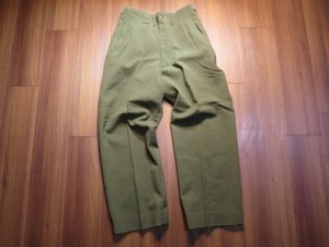 U.S.Field Trousers 100%Wool 1951年 sizeS-Short used