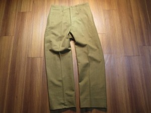 U.S.Trousers Service Enlisted OD Wool 1942年 size33