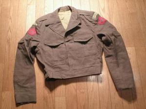 CANADA Blouse Wool Kahki 1956年 size37-38 used