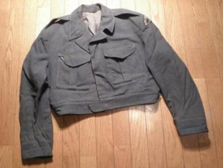 CANADA Blouse Wool Blue 1950年代 size? used