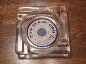 "U.S.Ash Tray""ⅩⅣUS ARMY CORPS""1960年? used"